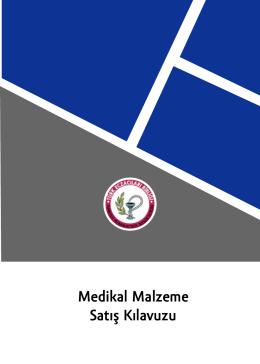 Medikal Malzeme Satış Kılavuzu