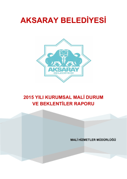 2015 Mali Durum - Aksaray Belediyesi