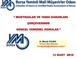 YMM Murat YILDIZ - Bursa Yeminli Mali Müşavirler Odası