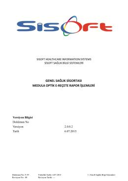 Medula Optik Reçete Rapor İşlemleri Pdf Formatında indirmek için