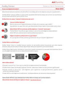 Portföy Fikirleri - Akbank Yatırımcı