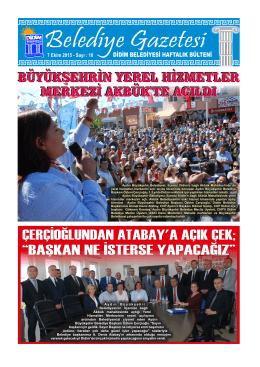 7 Ekim 2015 - Didim Belediyesi
