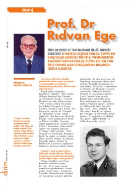 Prof. Dr Rıdvan Ege