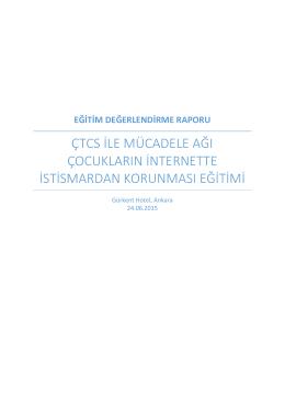 eğitim değerlendirme raporu - Çocuklara Yönelik Ticari Cinsel