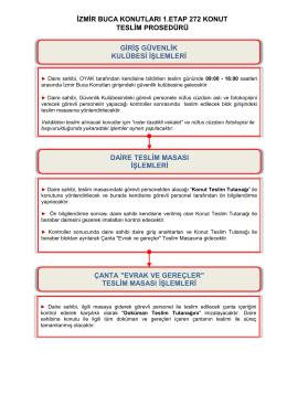 izmir buca konutları 1.etap 272 konut teslim prosedürü giriş güvenlik