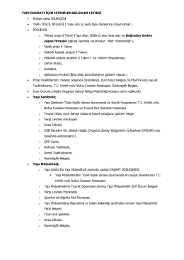 gerekli belgeler - Gediz Organize Sanayi Bölgesi