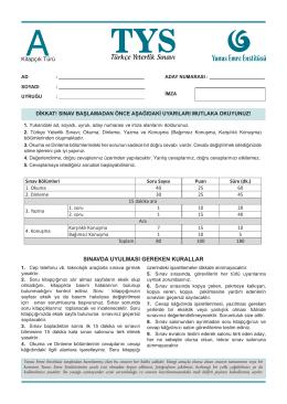 İndir - Türkçe Yeterlik Sınavı