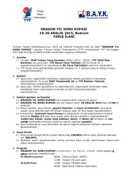 DRAGON YIL SONU KUPASI 19-20 ARALIK 2015, Bodrum