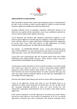 Tursan & OAB 2014-2015 yıl sonu faaliyet raporu