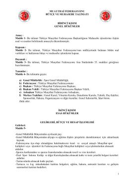 Madde 1 - Türkiye Muaythai Federasyonu