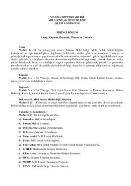 Milli Emlak Müdürlüğü - Manisa Defterdarlığı