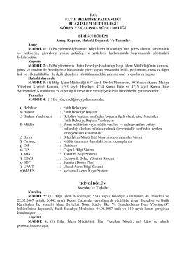 T.C. Fatih Belediye Başkanlığı Bilgi İşlem