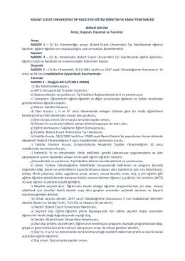 BEÜ. Tıp Fakültesi Eğitim-Öğretim ve Sınav Yönetmeliği