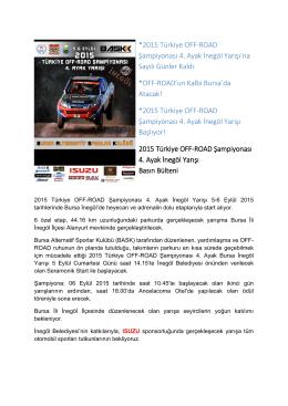 *2015 Türkiye OFF-ROAD Şampiyonası 4. Ayak İnegöl Yarışı`na