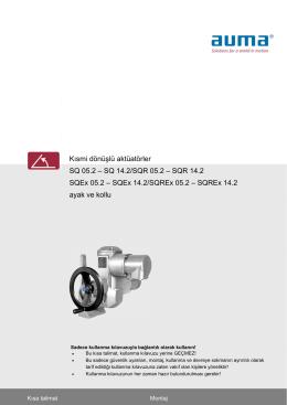 Kısmi dönüşlü aktüatörler SQ 05.2 – SQ 14.2/SQR 05.2 – SQR 14.2