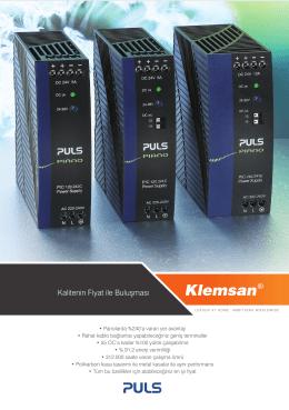 Puls Güç Kaynakları Katalog 2015