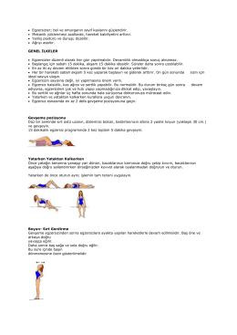 bel fıtığı egzersizleri pdf