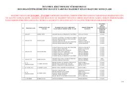 istanbul şişli meslek yükskeokulu 2015-2016 eğitim
