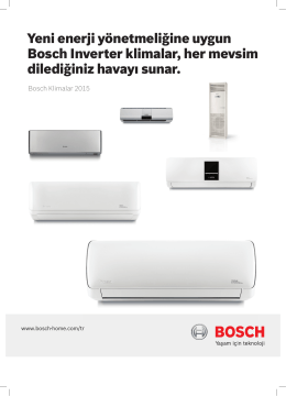 Yeni enerji yönetmeliğine uygun Bosch Inverter klimalar, her