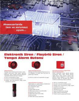 Elektronik Siren / Flaşörlü Siren / Yangın Alarm Butonu