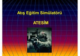 ATESIM Sunumunu (15 MB )