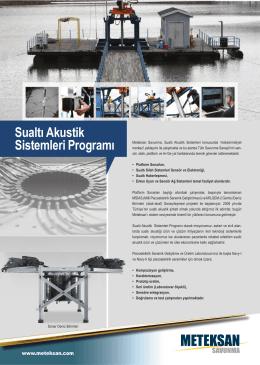 Sualtı Akustik Sistemleri Programı föyü için