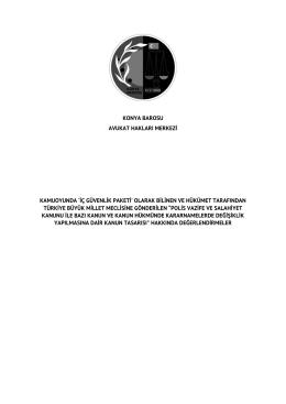 `iç güvenlik paketi` olarak bilinen ve hükümet