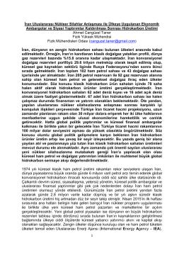 İran Uluslararası Nükleer Silahlar Anlaşması ile Ülkeye Uygulanan