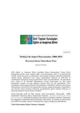 Askeri Harcamaları Güncellem Notu 2006-2014 YENİ