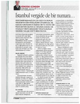 İstanbul vergide de bir numara