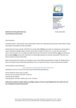 Elterninformation Kosten Tagesbetreuung SJ 2015-16