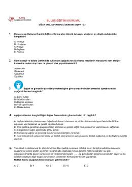 TEST-10 - Buluş İş Sağlığı ve Güvenliği Antalya