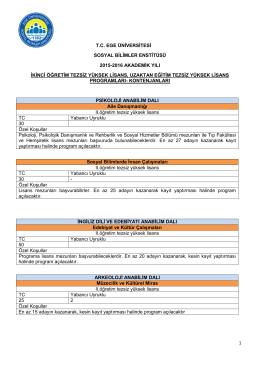 1 tc ege üniversitesi sosyal bilimler enstitüsü 2015