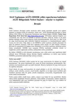 Sivil Toplumun AGİT-ODIHR yıllık raporlarına katkıları
