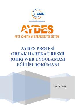AYDES OHR Web Uygulaması Eğitim Dökümanı