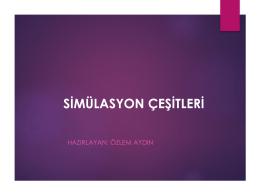 Sunum4 -- Simülasyon Çeşitleri