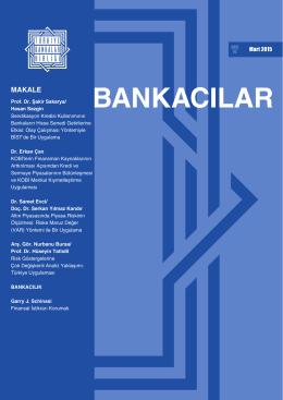 16.03.2015 Bankacılar Dergisi