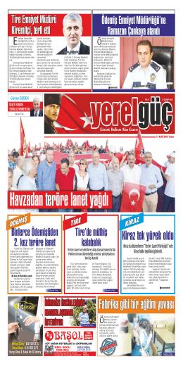 11 eylül 2015 cuma - Yerel Güç Gazetesi Küçük Menderes | Ödemiş