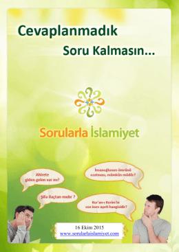 16 Ekim 2015 www.sorularlaislamiyet.com
