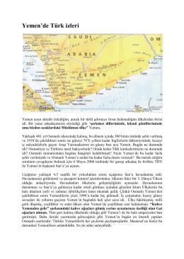 Yemen`de Türk izleri - Prof.Dr.Orhan GEDİKLİ Gözüyle