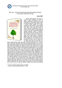 Altan Çetin – Galip Çağ, İbn Haldun Umranında Osmanlı Devleti`nin
