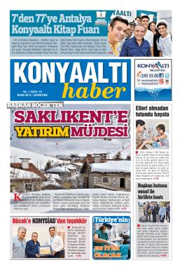 EKİM 2015 YIL:1 - Konyaaltı Belediyesi