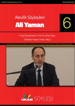 Ali Yaman - Uluslararası Kültürel Araştırmalar Merkezi