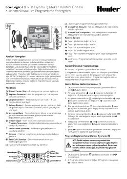 Eco-Logic 4 & 6 İstasyonlu İç Mekan Kontrol
