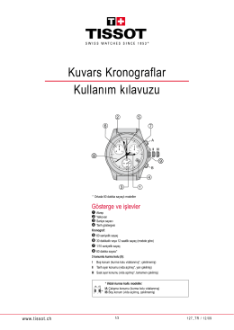 Kuvars Kronograflar Kullanım kılavuzu