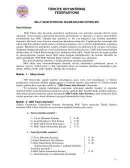 tıklayınız - Türkiye Oryantiring Federasyonu