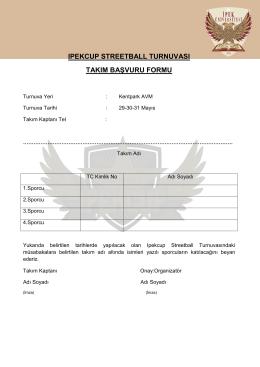 ıpekcup streetball turnuvası takım başvuru formu