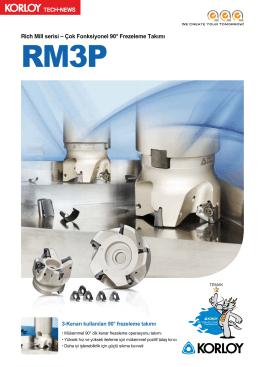 Rich Mill serisi – Çok Fonksiyonel 90° Frezeleme Takımı
