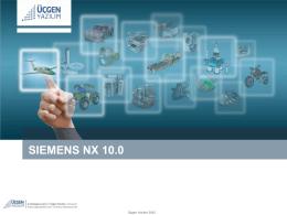 NX 10 CAM yenilikleri için tıklayın!