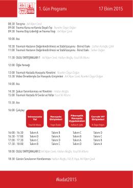 Ekim 2015 Programı